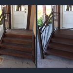Salt Lake City Utah pro painters handrail stain